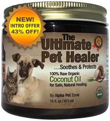 The Ultimate Healer 100% Raw Organic Coconut Oil for Dogs by Alpha Pet Zone