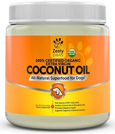 100% Certified Organic Extra Virgin Coconut Oil for Dogs by Zesty Paws