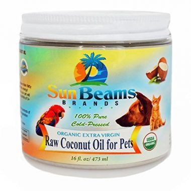 100% Pure Cold-Pressed Organic Extra Virgin Raw Coconut Oil for Pets by Sun Beams Brands