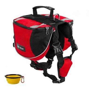 Dog Pack Hound Travel Hiking Backpack Saddlebag by GrayCell