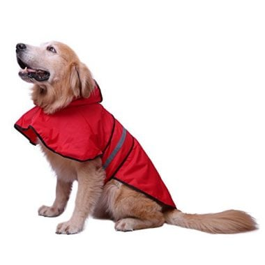 Dog Raincoat Hooded Slicker Poncho for Dogs and Puppies by HDE