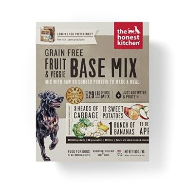 The Grain Free Fruit & Veggie Base Mix Recipe for Dogs