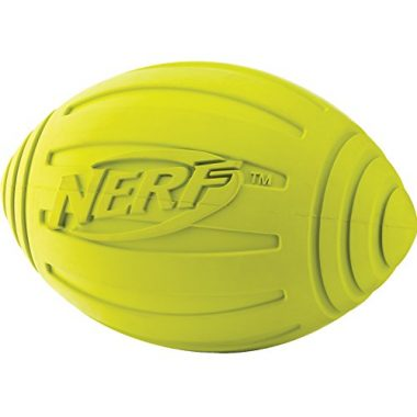 Ridged Squeaker Football by Nerf Dog