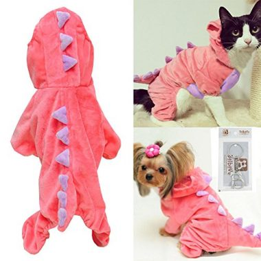 Pet Plush Outfit Dinosaur Costume with Hood by Bro'Bear