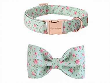 UPS Pet Soft & Comfy Bowtie Dog and Cat Collar