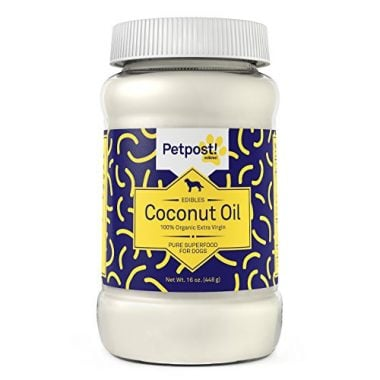 100% Organic Extra Virgin Coconut Oil for Dogs by Petpost