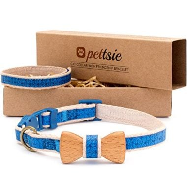 Pettsie Cat Collar Bowtie with Breakaway Safety and Friendship Bracelet