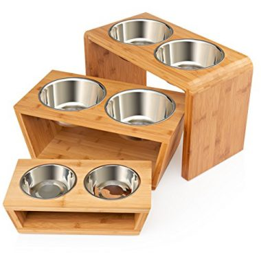 Premium Elevated Dog and Cat Double Bowl