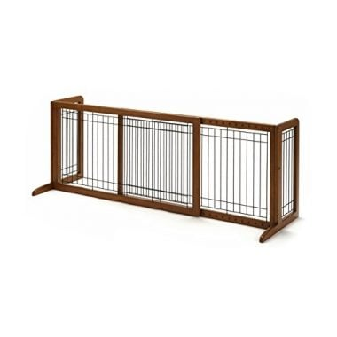 Wood Freestanding Pet Gate by Richell