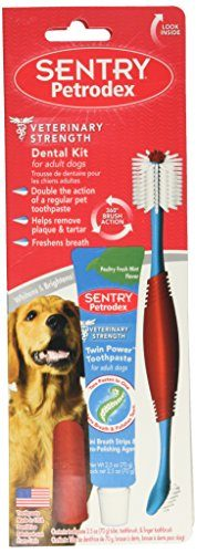 Petrodex Dental Care Kit for Adult Dogs by Sentry