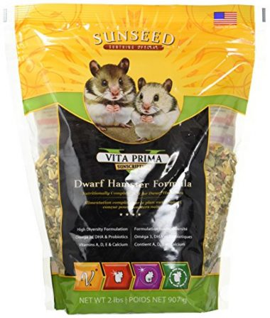 Sunseed Company Vitakraft Vita Prima Sunscription Dwarf Hamster Formula