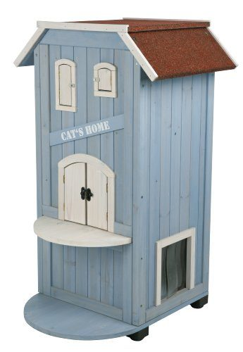 Three Storey Wooden Cat House