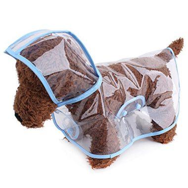 Dog Raincoat Waterproof Puppy Jacket Pet Rainwear by Topsung