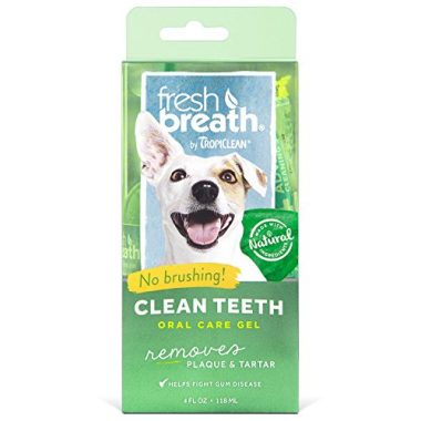 Fresh Breath Plaque Remover Pet Clean Teeth Gel by Tropiclean