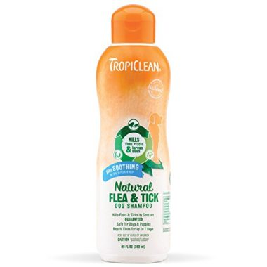 Tropiclean Natural Flea & Tick Soothing Shampoo