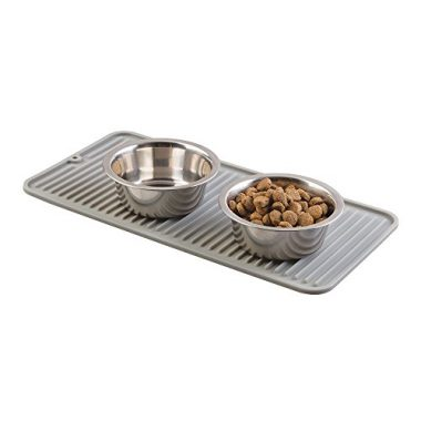 mDesign Pet Food & Water Bowl Feeding Mat