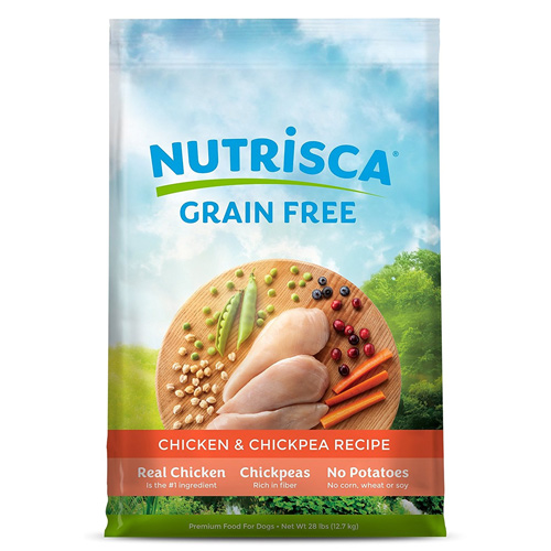 Nutrisca Grain Free Chicken & Chickpea Recipe Dry Dog Food by Dogswell