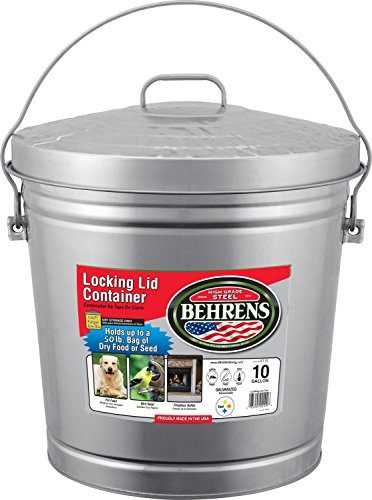 Behrens 61106110 10-Gallon Locking Lid Can