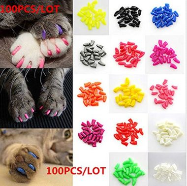 Soft Pet Cat Nail Caps Claws Control