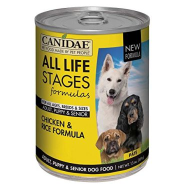 All Life Stages Chicken & Rice Pate Canned Dog Food for Puppies, Adults, & Seniors