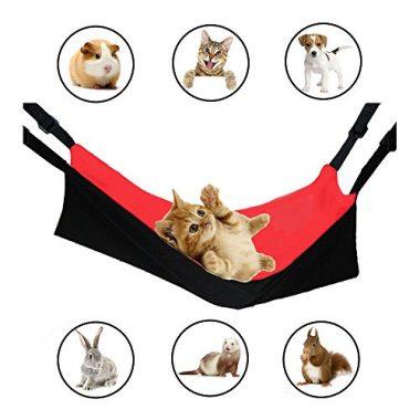 Cat Cage Hammock, HOPET Cat Bed Mat Pad Ferret Hanging Bed Comforter