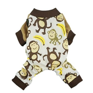 Fitwarm Soft Cotton Adorable Monkey Dog Pajamas