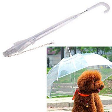 Hankiki Waterproof Pet Umbrella with Leash