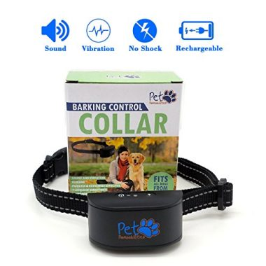 Pet Pawsabilities No Shock Rechargeable Water Resistant Bark Collar
