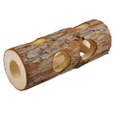 Niteangel Natural Wooden Hamster Mouse Tunnel Tube Toy