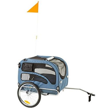 2-in-1 Pull-Behind Dog Bike Carrier Bicycle Pet Trailer by Rage Powersports