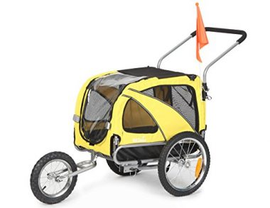 2-in-1 Medium Pet Dog Bike Trailer by Sepnine