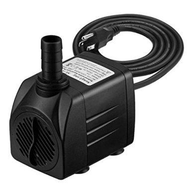 Homasy 400GPH Submersible Pump 25W Fountain Water Pump