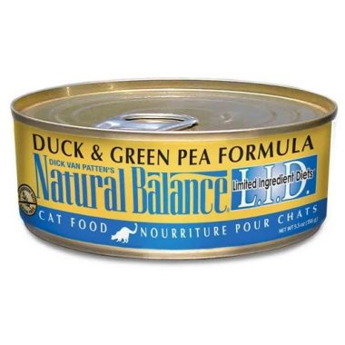 Natural Balance Canned Cat Food, Limited Ingredient Duck and Green Pea