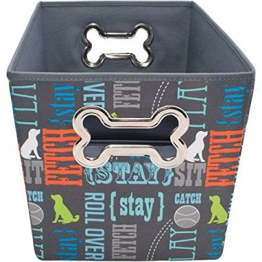 Paw Prints Fabric Pet Toy Bin