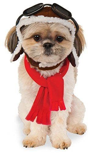 Pet Aviator Hat and Scarf Set
