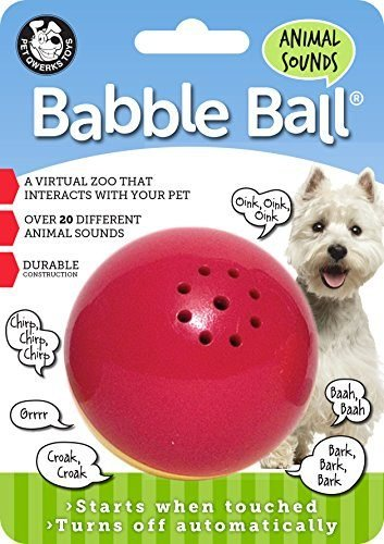 Pet Qwerks Animal Sounds Babble Ball