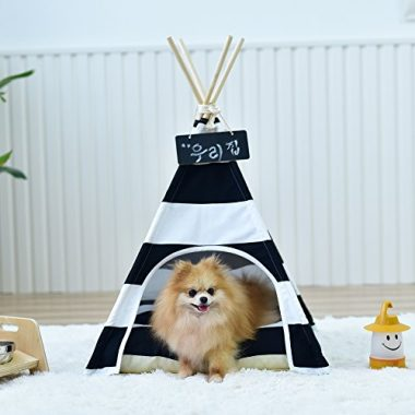 Pet Supplies Black And White Strip Style Pet Teepee