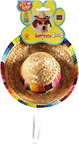 Rubies Pet Sombrero Hat with Multicolor Trim