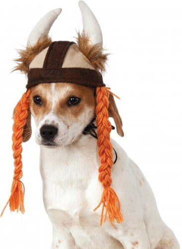 Rubies Viking Hat with Braids for Pets