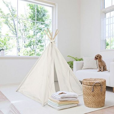 UKadou Pet Teepee Tent for Dogs Cats