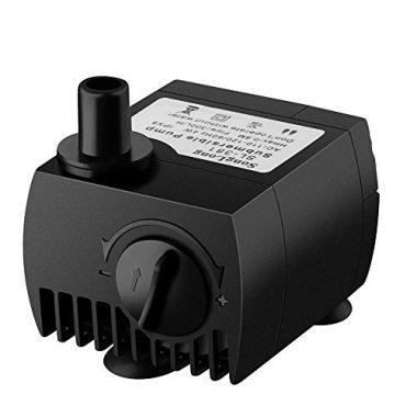 VicTsing 80 GPH (300L/H, 4W) Submersible Water Pump