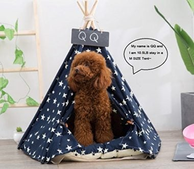 Yongs Pet Dog Tent Bed Portable Teepee