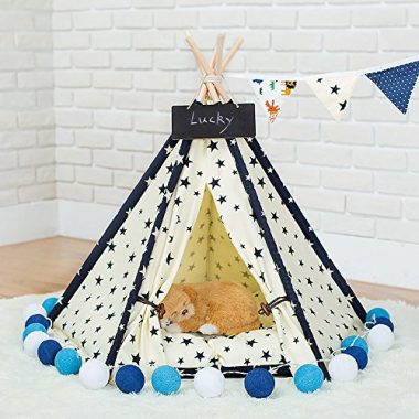 Zaihe Pet Teepee Dog & Cat Bed