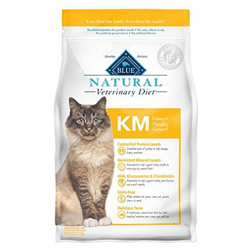 Blue Natural Veterinary Diet KM Kidney Mobility Support Dry Cat Food