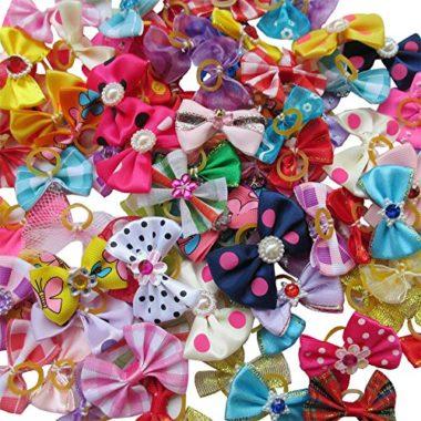 Chenkou Craft Random Puppy Bows