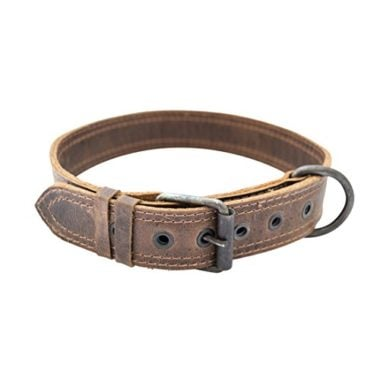 Hide & Drink Rustic Leather Dog Collar