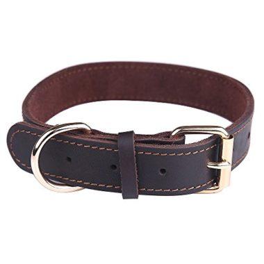 Taglory Genuine Leather Dog Collars