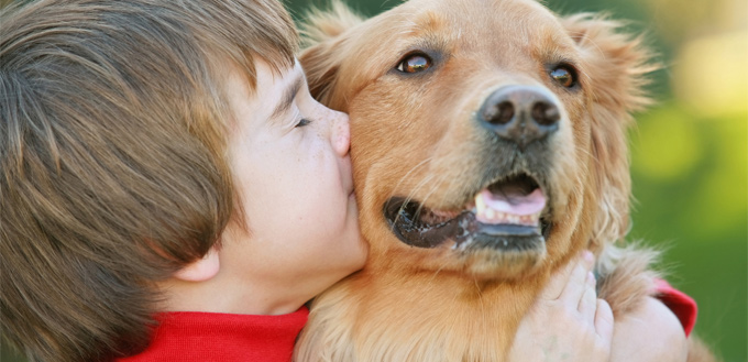 dog hating kisses and hugs
