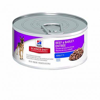 Hill's Science Diet 7+ Beef & Barley Entrée Dog Food