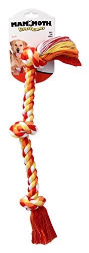 Mammoth Flossy Chews Cotton Blend Three Knot Rope Tug